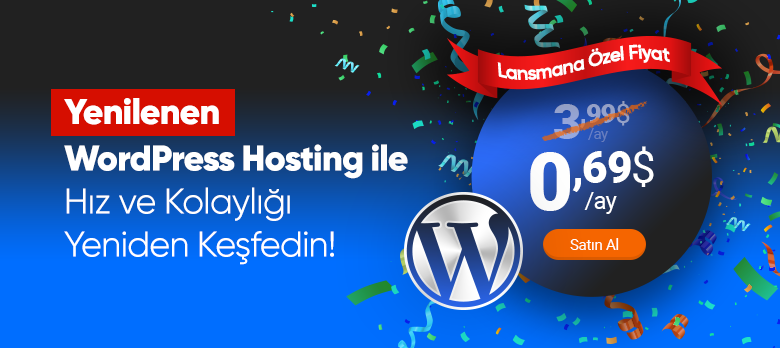 WordPress Hosting (JetPress) Lansman Kampanyası