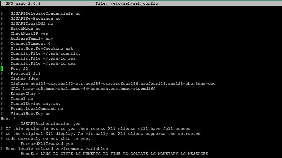 Linux SSH portunu değiştirmek
