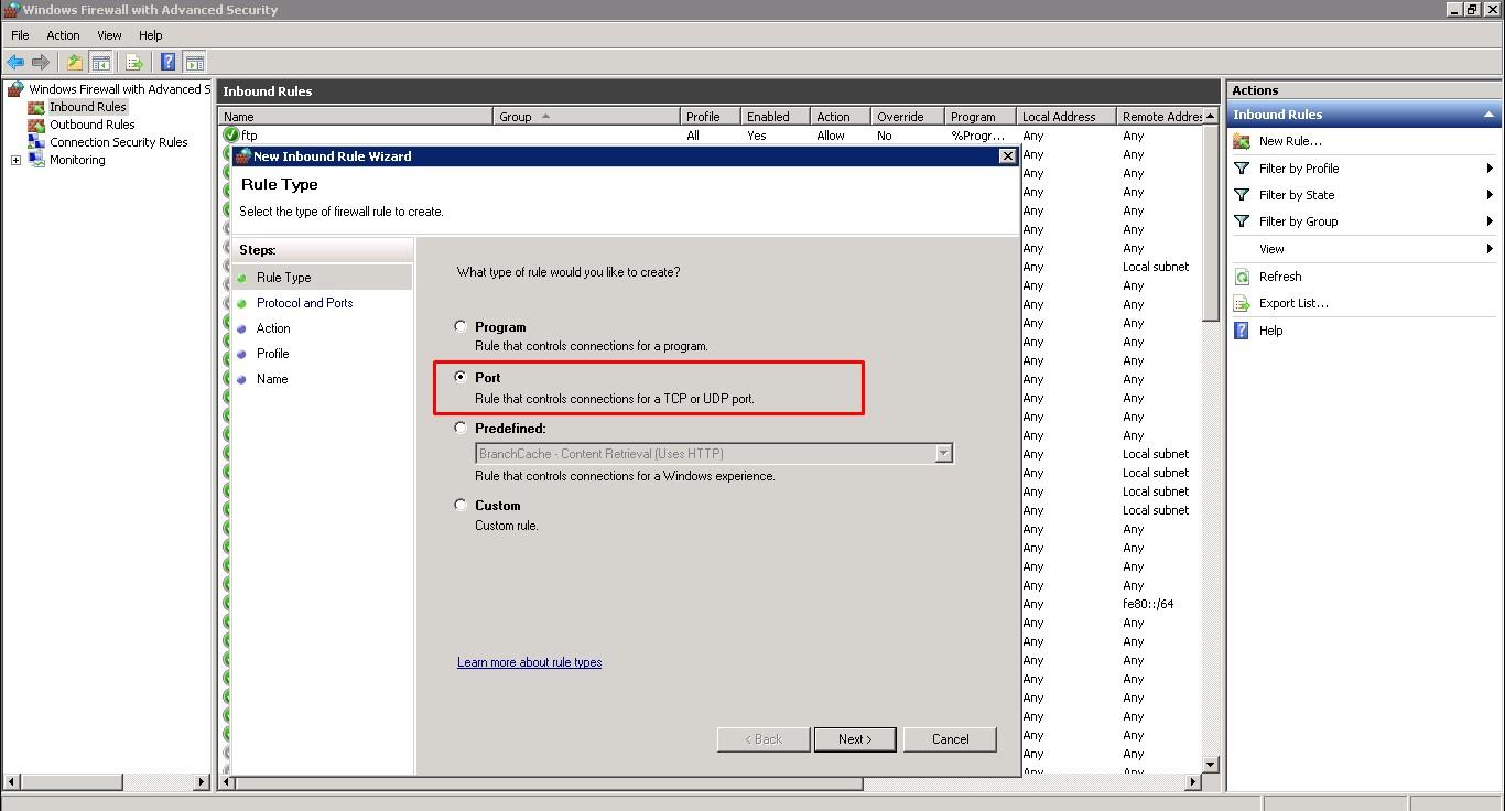 Windows Erişim Port Değişimi