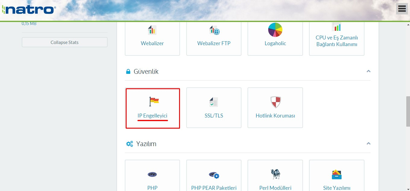 cpanel'de spam trafik ip engelleyici